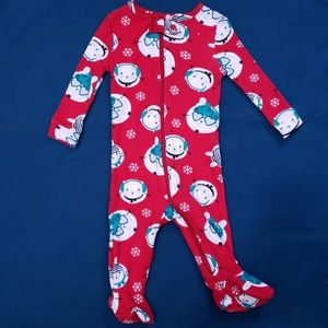 3-6M Onesie | Winter Snow Bunny Red Joe Fresh